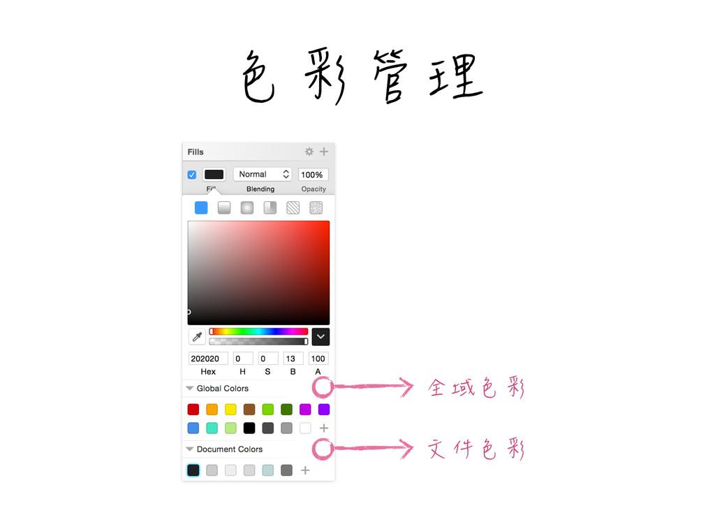 色彩管理 全域色彩 文件色彩