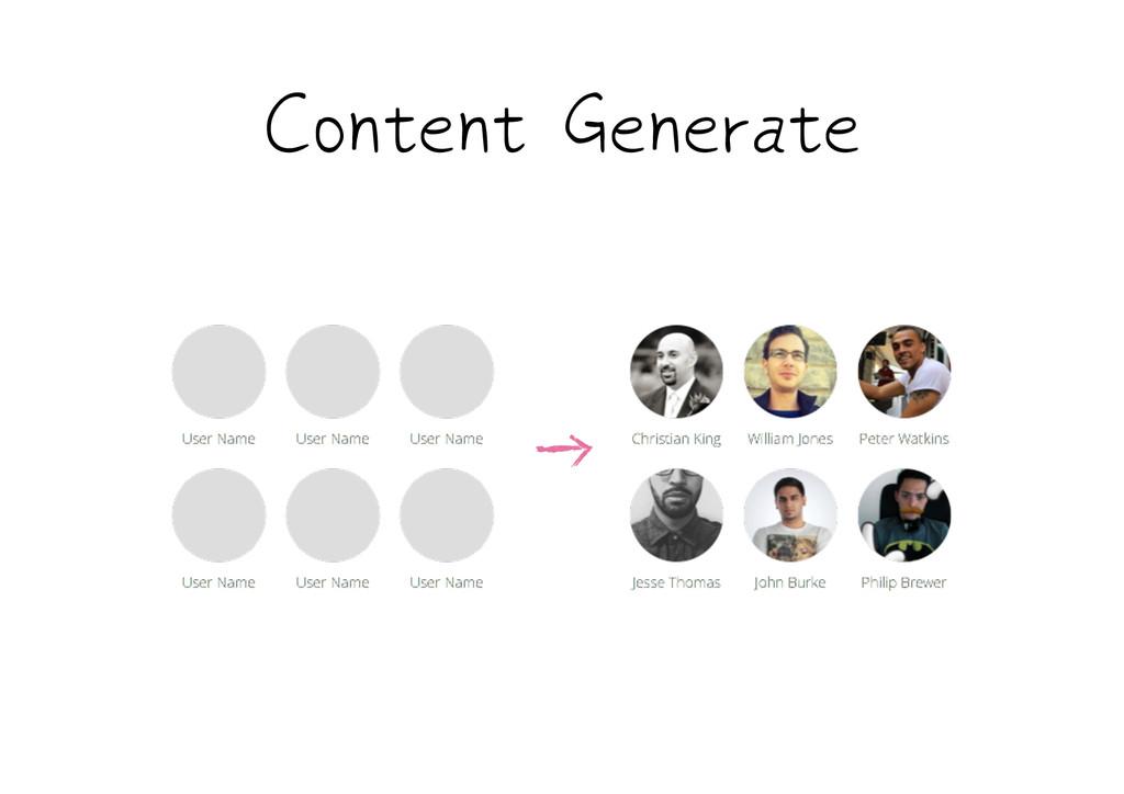 Content Generate