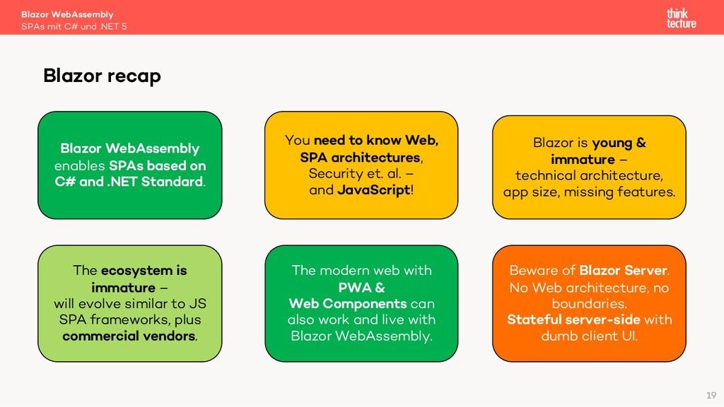 19 Blazor WebAssembly SPAs mit C# und .NET 5 Bl...