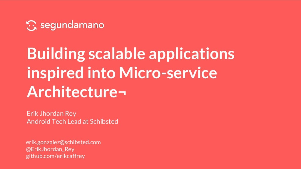 Building scalable applications inspired into Mi...
