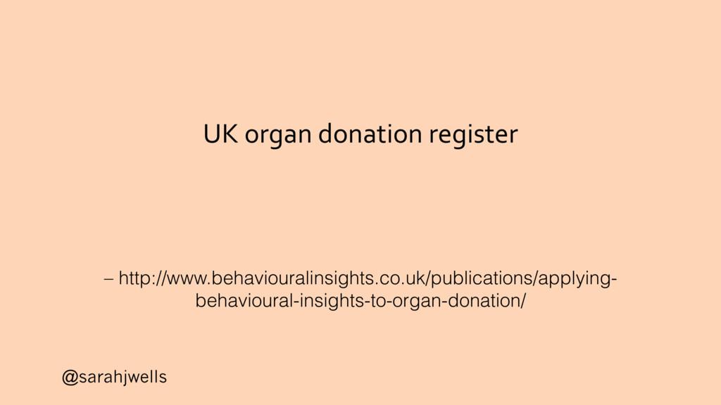 @sarahjwells UK organ donation register – http:...