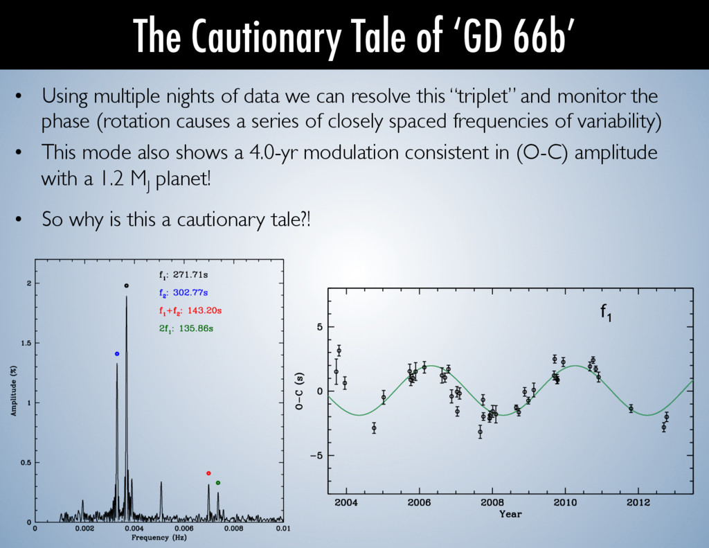 • Using multiple nights of data we can resolve...