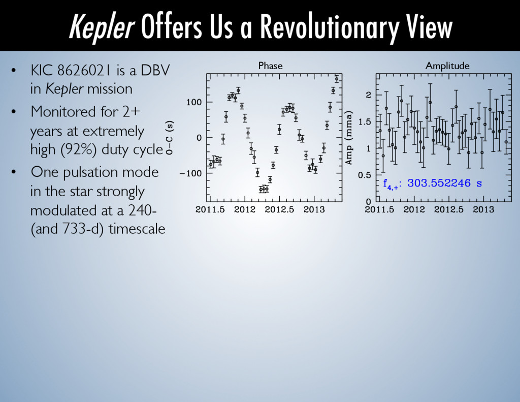 • KIC 8626021 is a DBV in Kepler mission  •...