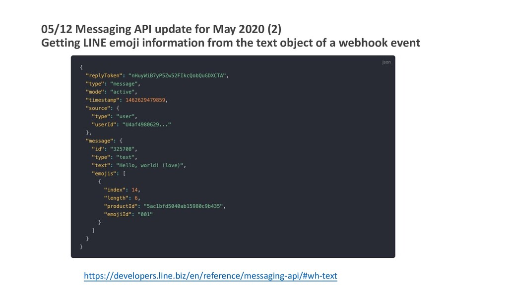 05/12 Messaging API update for May 2020 (2) Get...
