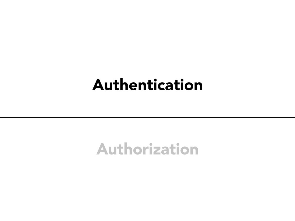 Authentication Authorization