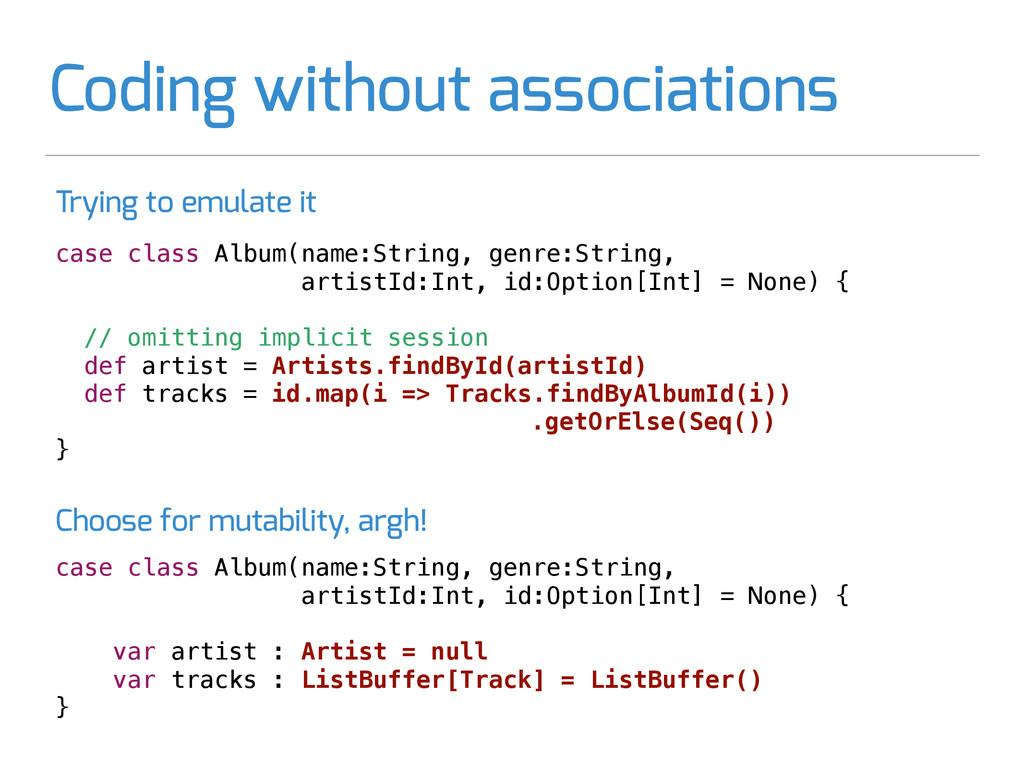 case class Album(name:String, genre:String, art...