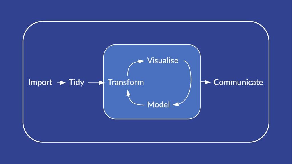 Import Tidy Transform Visualise Model Communica...