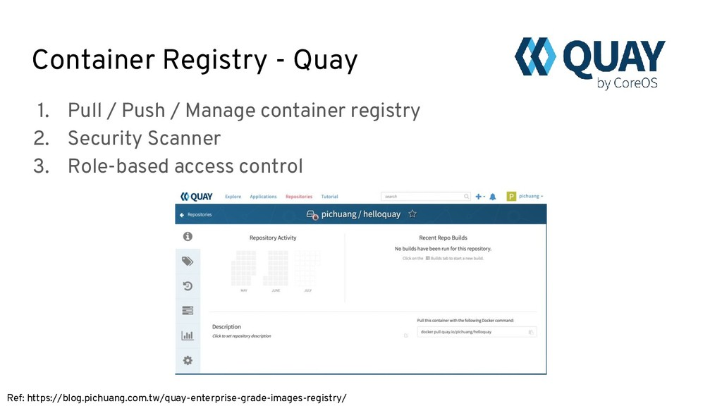 Container Registry - Quay Ref: https://blog.pic...
