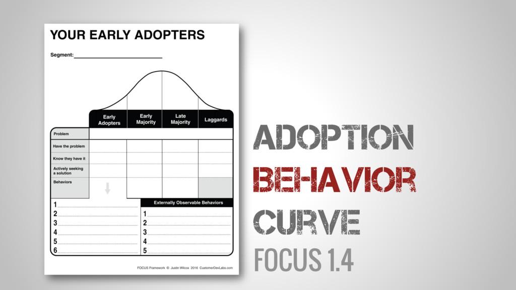 FOCUS 1.4 Adoption Behavior Curve