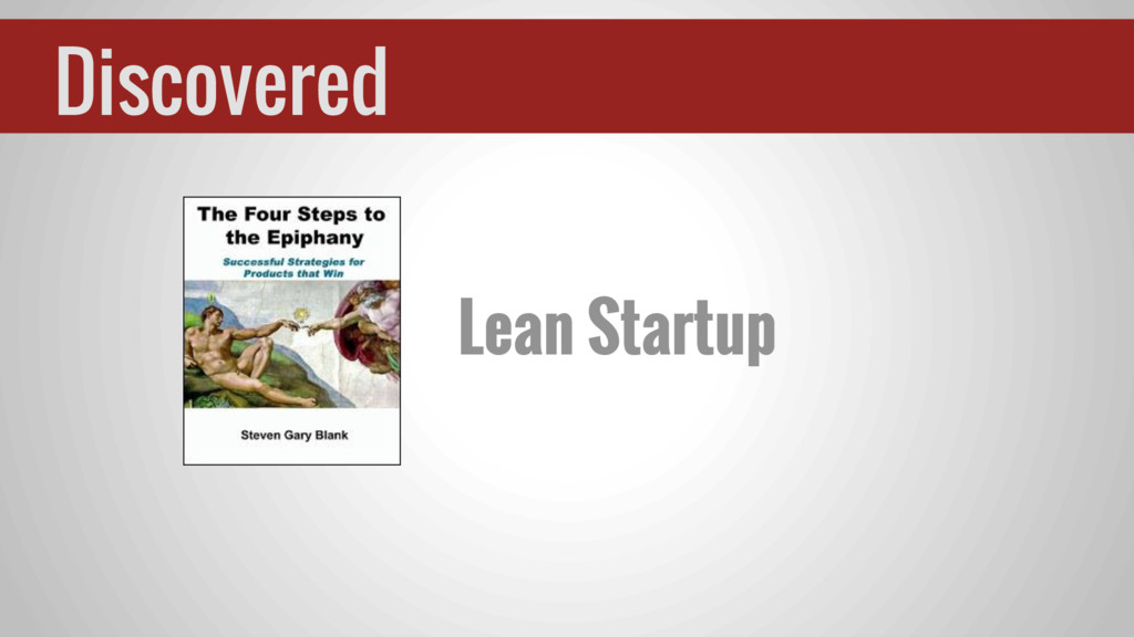 Discovered Lean Startup