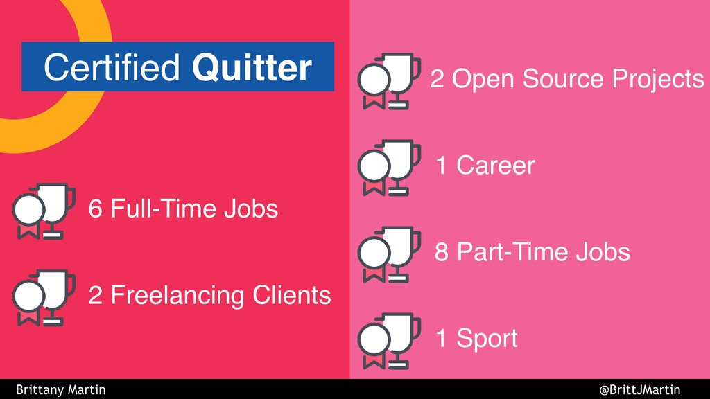 6 Full-Time Jobs 2 Freelancing Clients 2 Open S...