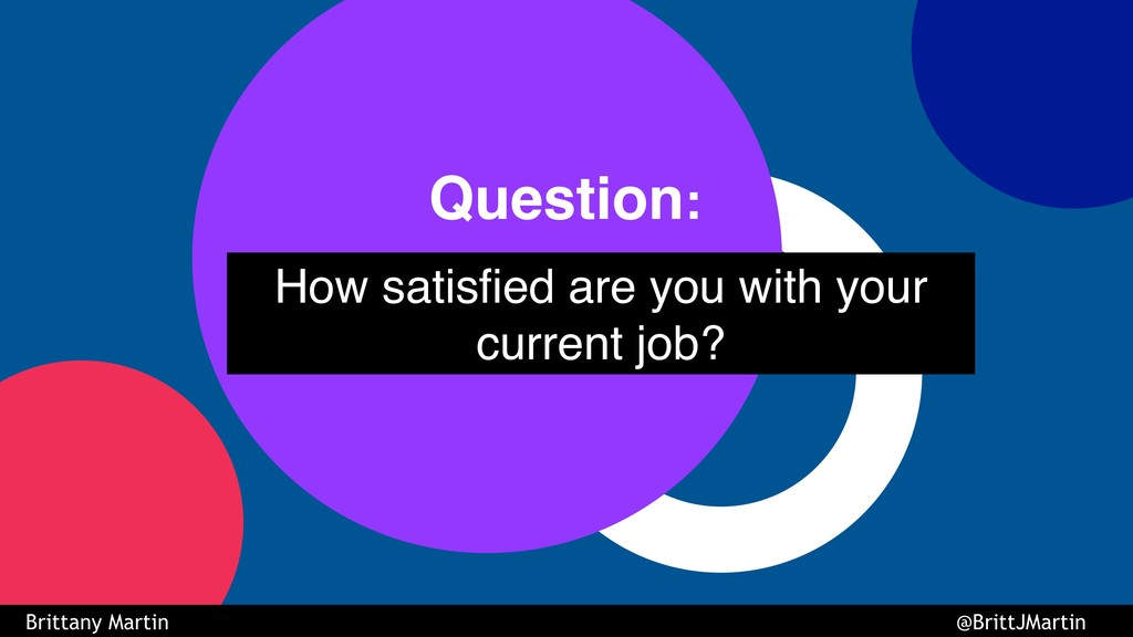 How satisfied are you with your current job? Qu...