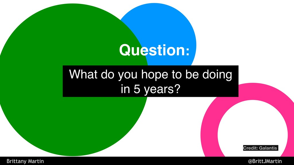 What do you hope to be doing in 5 years? Questi...