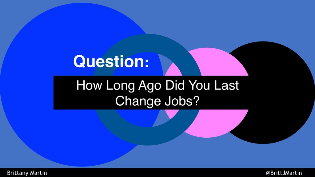 How Long Ago Did You Last Change Jobs? Question...