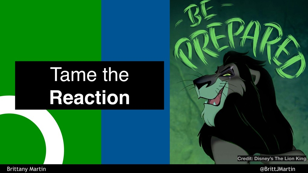 Tame the Reaction Credit: Disney's The Lion Kin...
