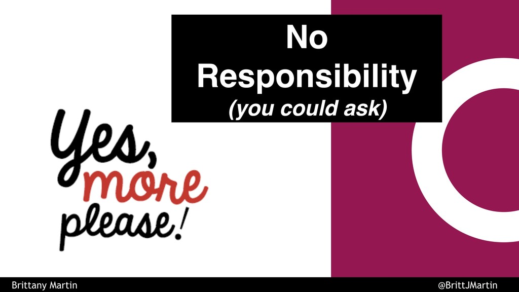 No Responsibility (you could ask) Brittany Mart...