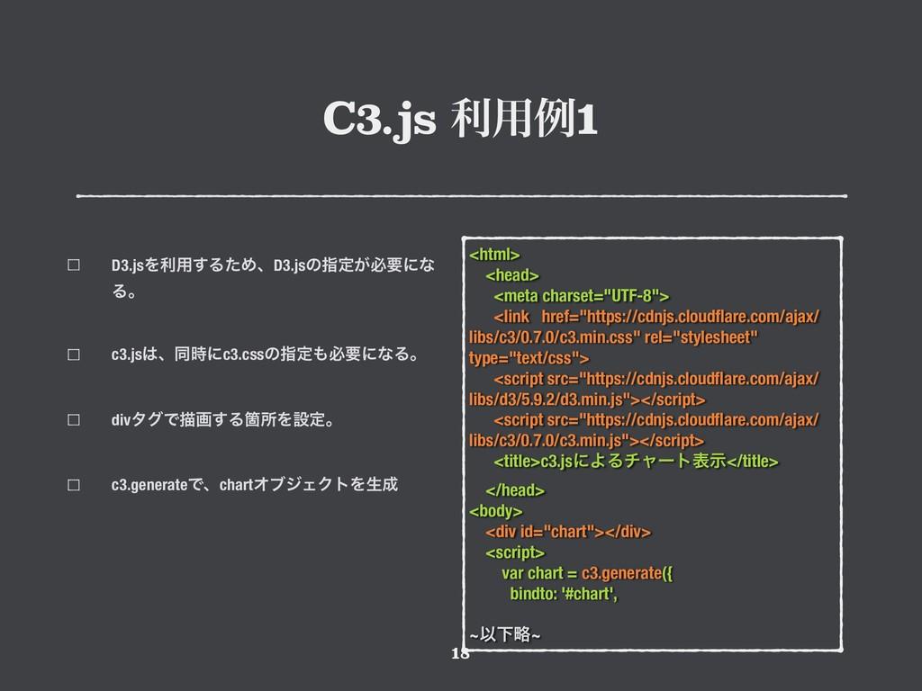 """C3.js ར༻ྫ1 !18 <html> <head> <meta charset=""""UTF..."""