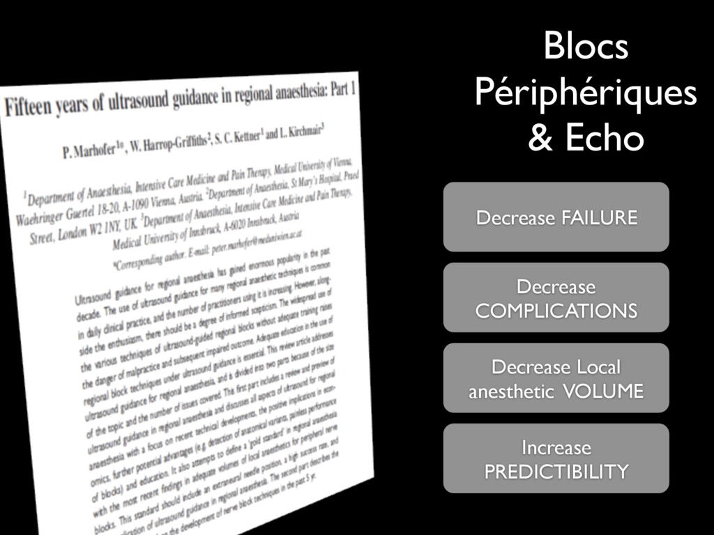 Blocs Périphériques & Echo Decrease FAILURE Dec...