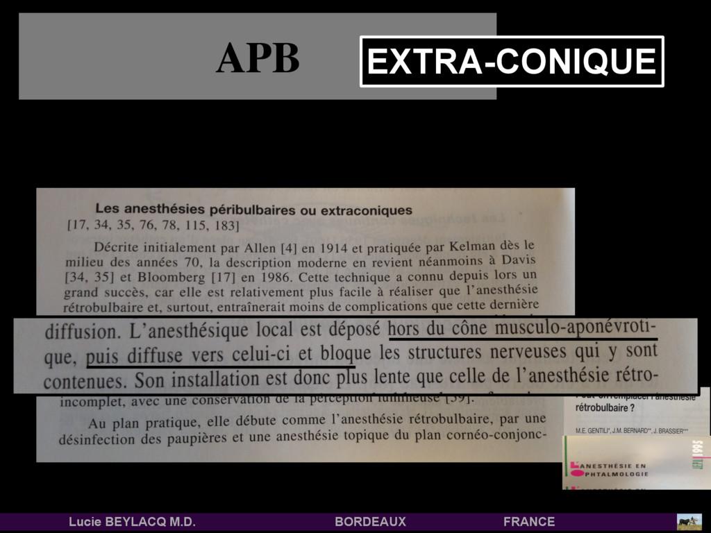 APB EXTRA-CONIQUE Lucie BEYLACQ M.D. BORDEAUX F...