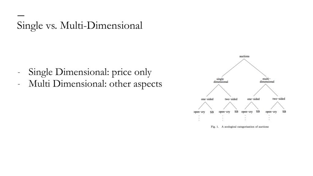 Single vs. Multi-Dimensional — - Single Dimensi...