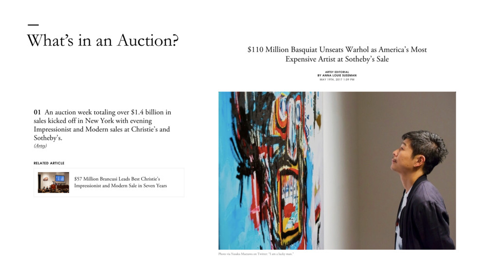 What's in an Auction? —