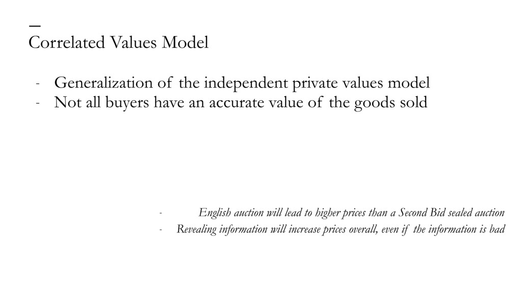 Correlated Values Model — - Generalization of t...