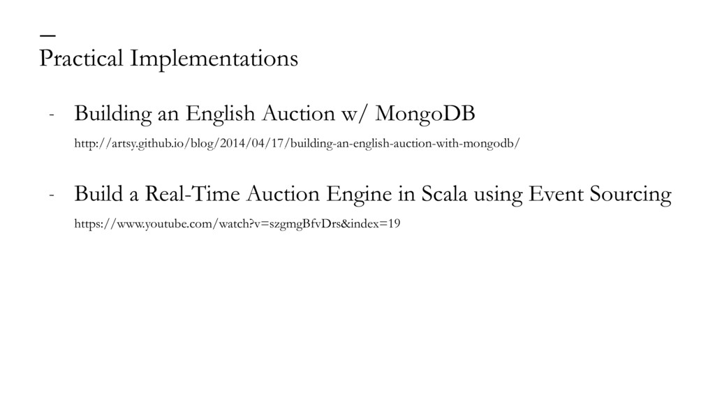 Practical Implementations — - Building an Engli...