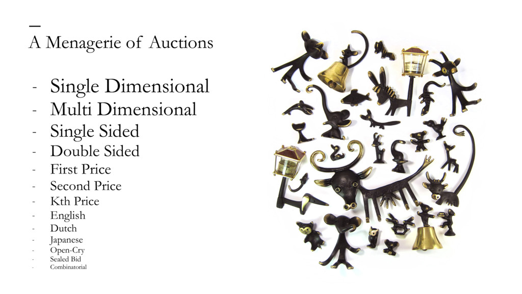 A Menagerie of Auctions — - Single Dimensional ...