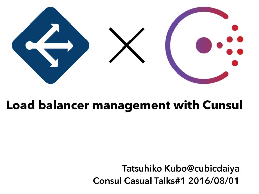 Tatsuhiko Kubo@cubicdaiya Consul Casual Talks#1...