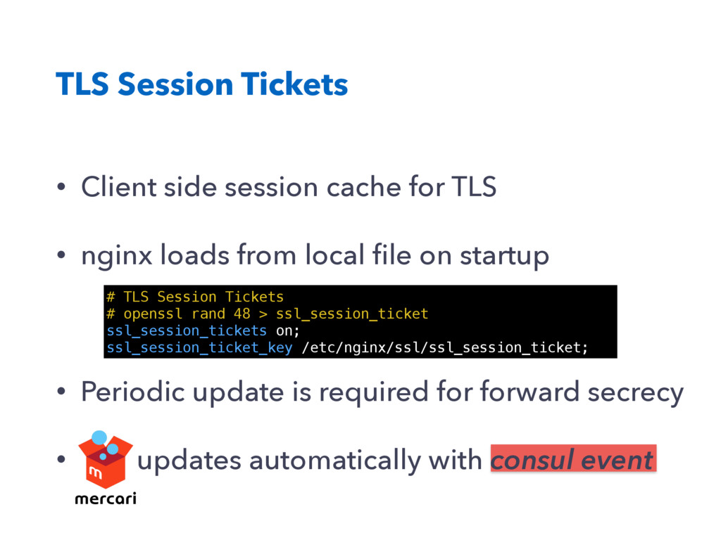 TLS Session Tickets # TLS Session Tickets # ope...