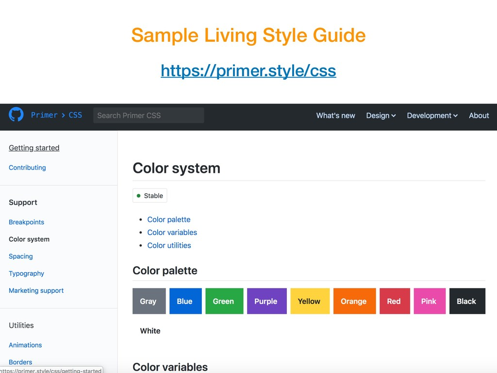 Sample Living Style Guide https://primer.style/...