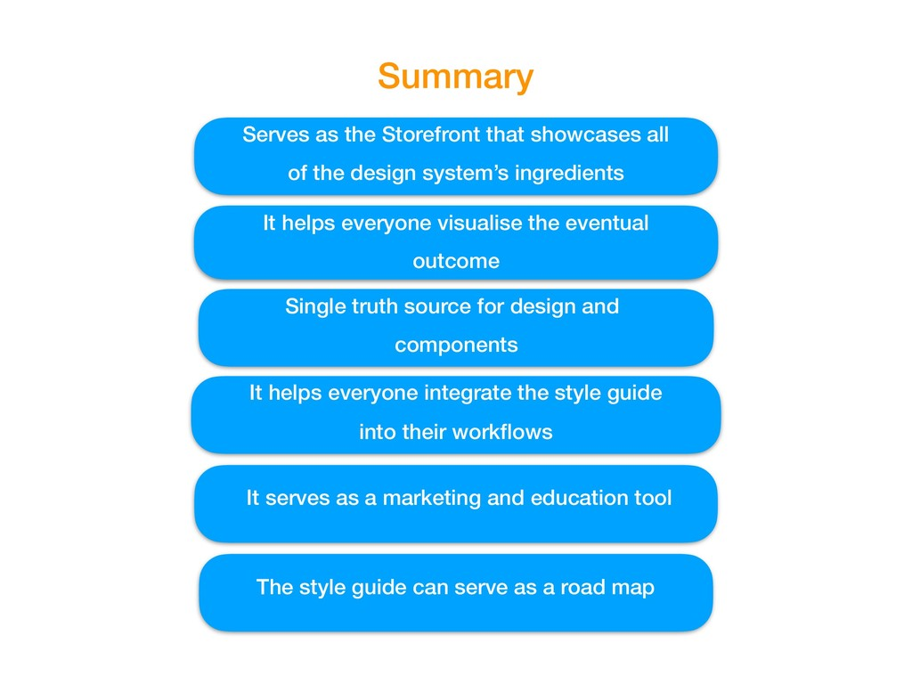 Summary Serves as the Storefront that showcases...