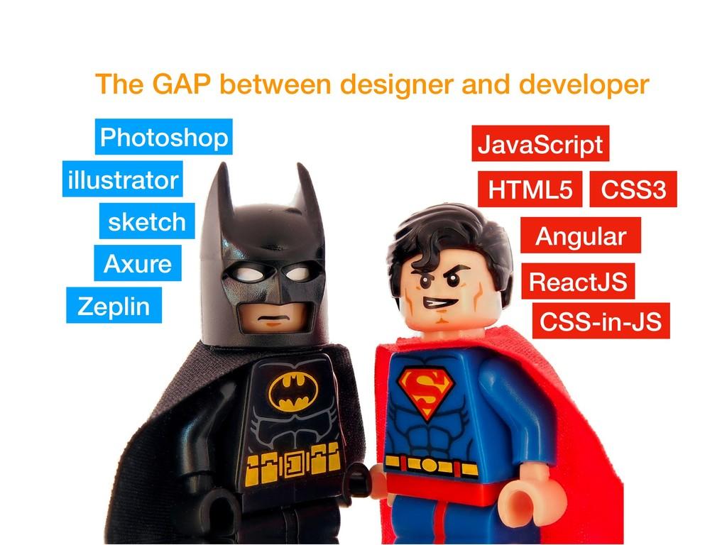 The GAP between designer and developer Photosho...