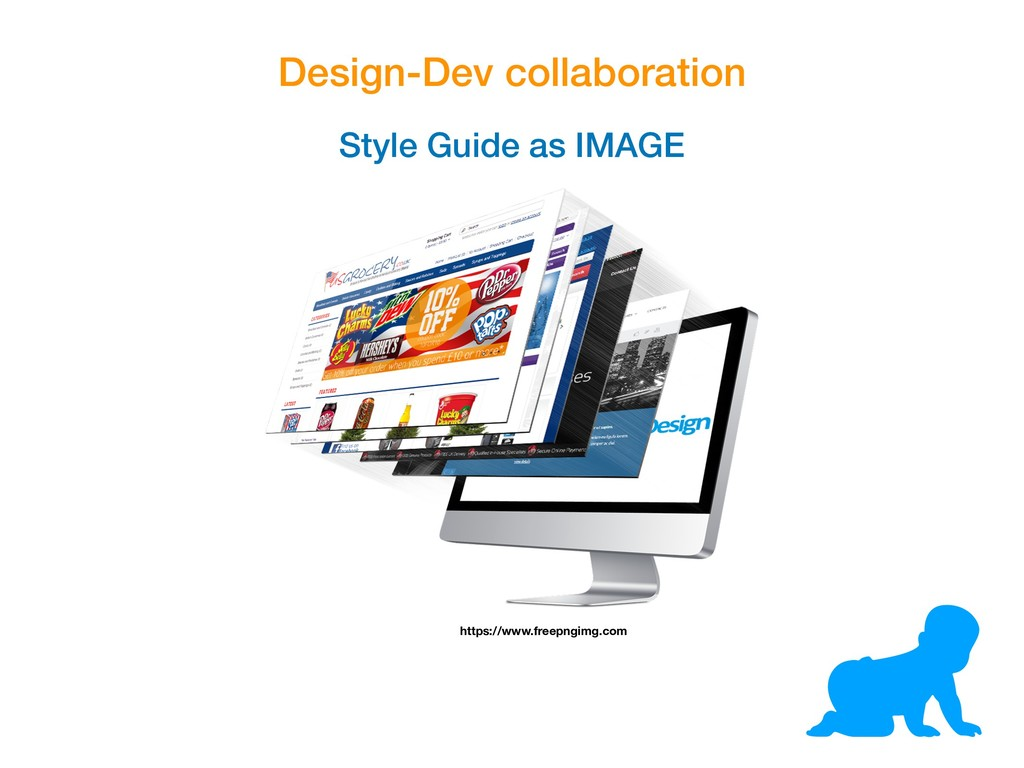 Design-Dev collaboration Style Guide as IMAGE h...