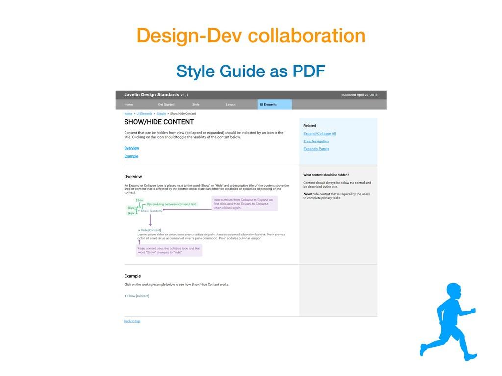 Design-Dev collaboration Style Guide as PDF