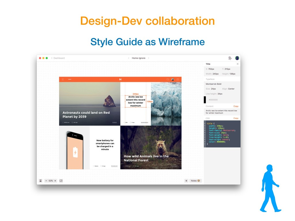 Design-Dev collaboration Style Guide as Wirefra...
