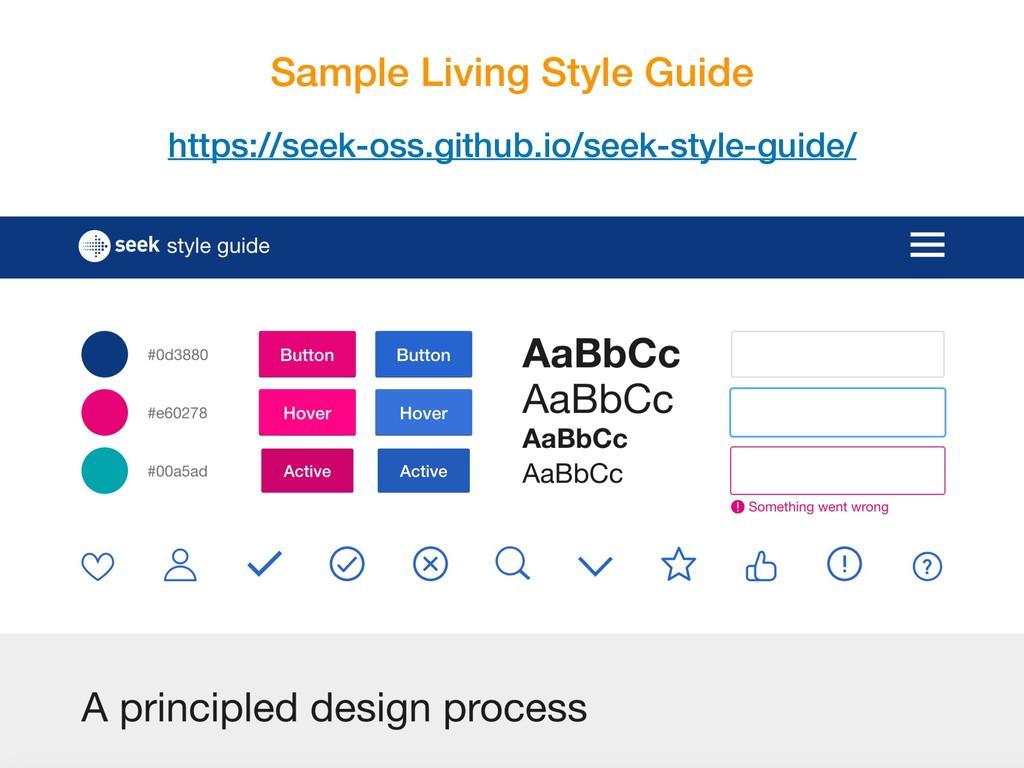Sample Living Style Guide https://seek-oss.gith...