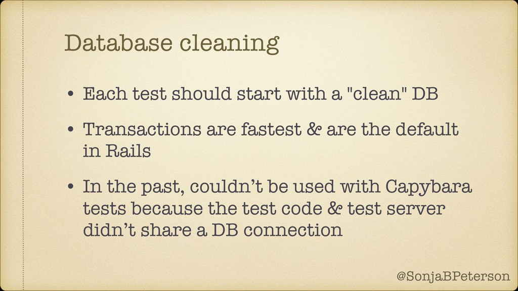 @SonjaBPeterson @SonjaBPeterson Database cleani...