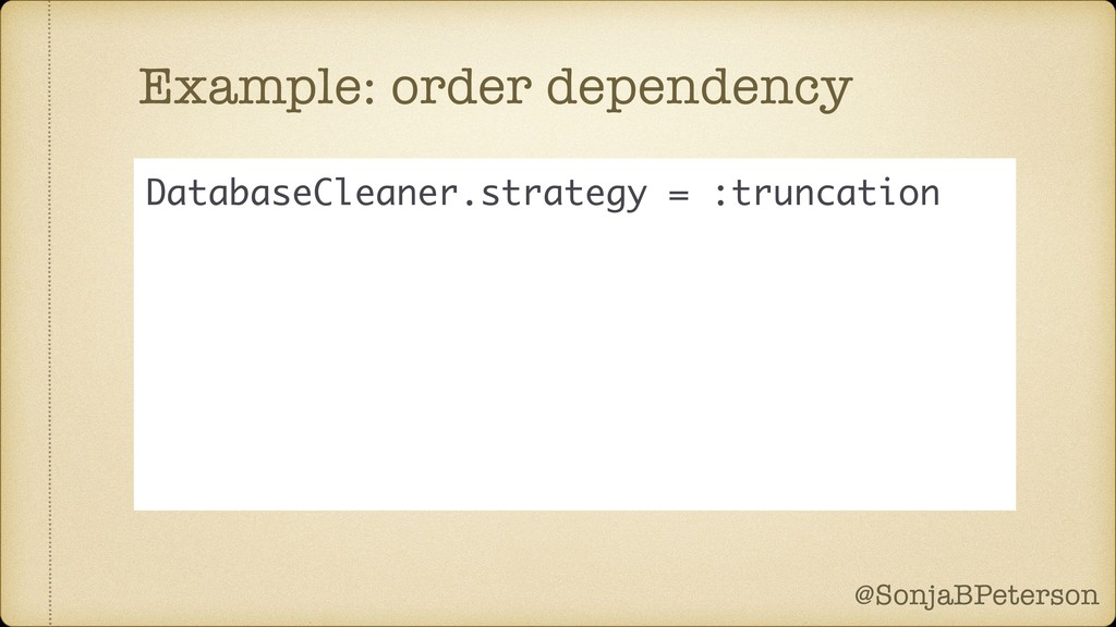 @SonjaBPeterson @SonjaBPeterson Example: order ...