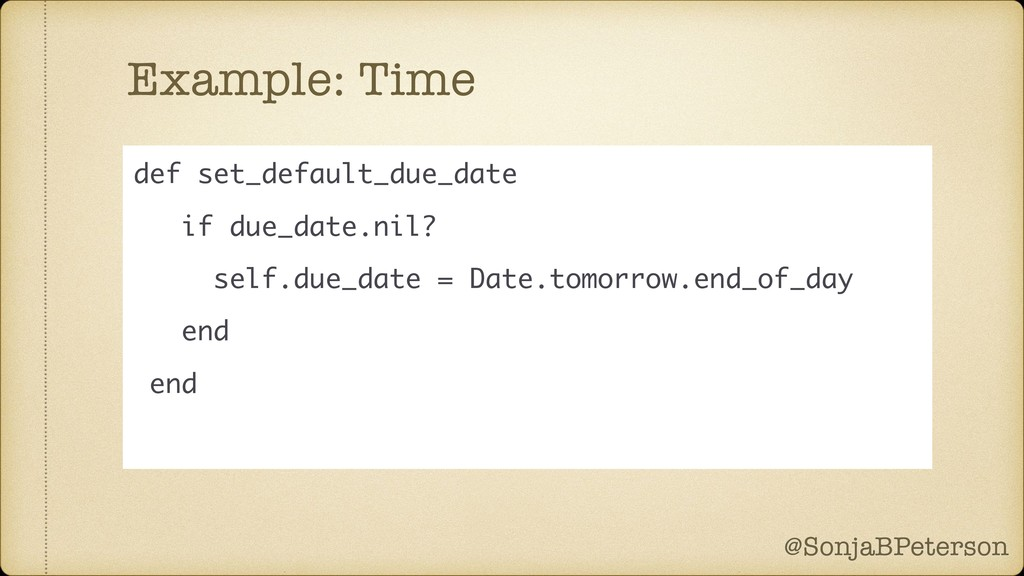 @SonjaBPeterson @SonjaBPeterson Example: Time d...