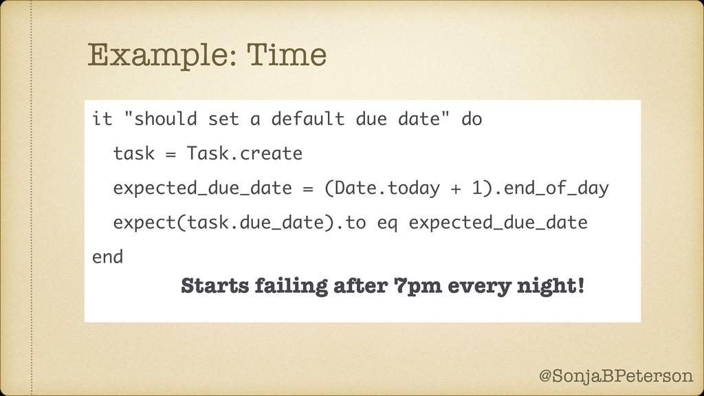 @SonjaBPeterson @SonjaBPeterson Example: Time i...