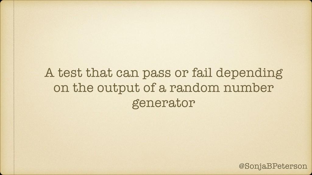 @SonjaBPeterson @SonjaBPeterson A test that can...