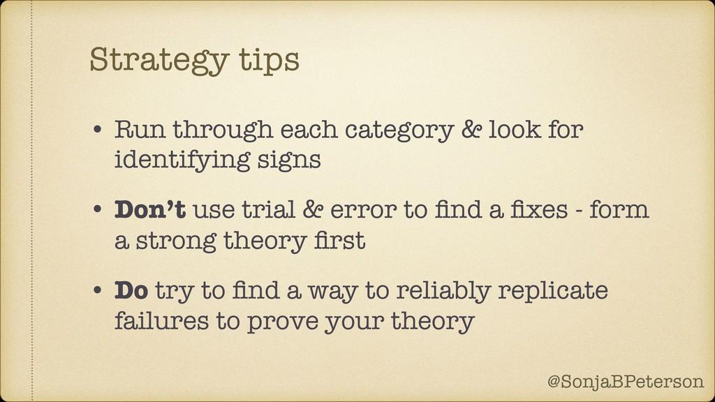 @SonjaBPeterson @SonjaBPeterson Strategy tips •...