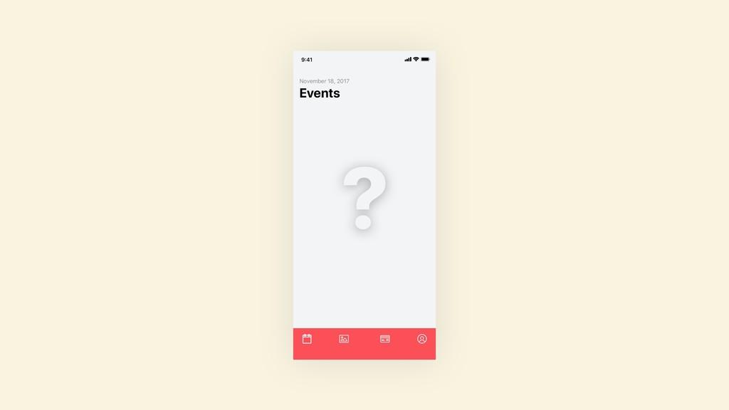 Events November 18, 2017 9:41 ?