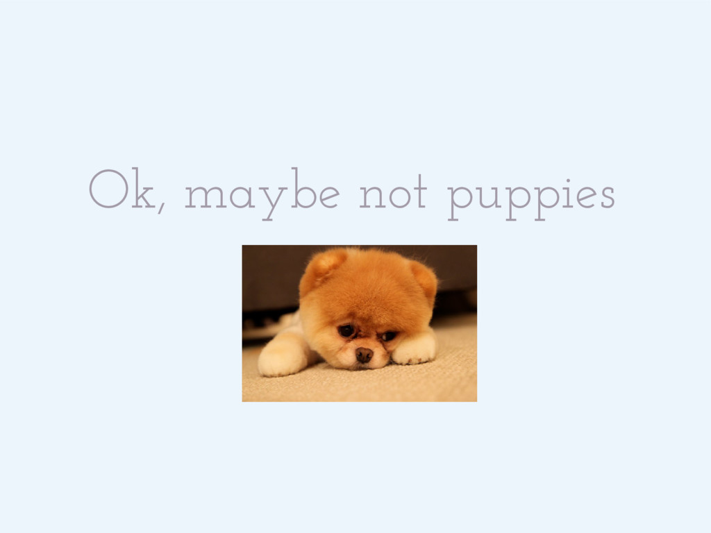 Ok, maybe not puppies