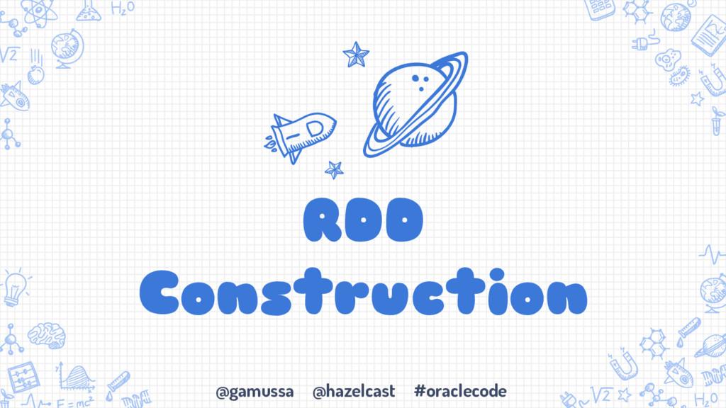 @gamussa @hazelcast #oraclecode RDD Construction