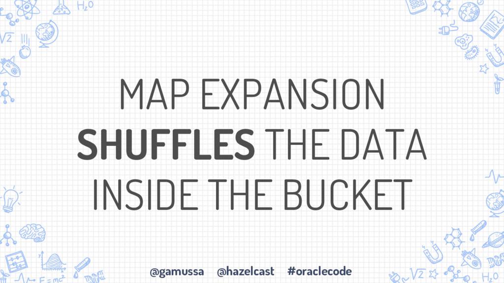 @gamussa @hazelcast #oraclecode MAP EXPANSION S...