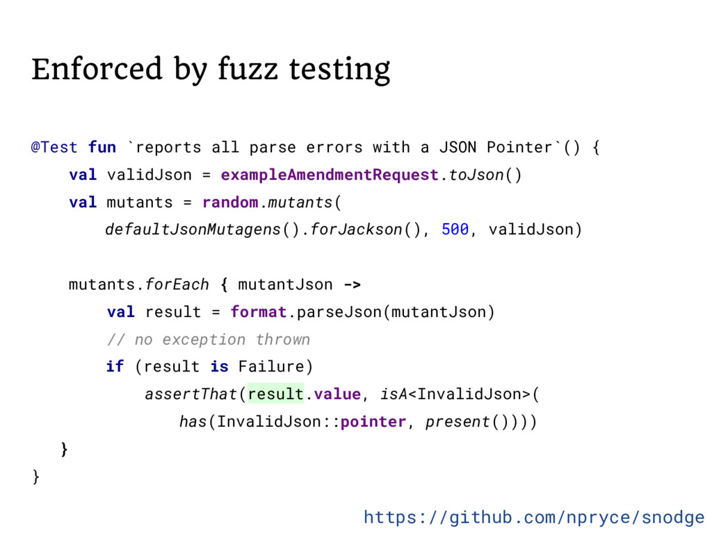 Enforced by fuzz testing @Test fun `reports all...