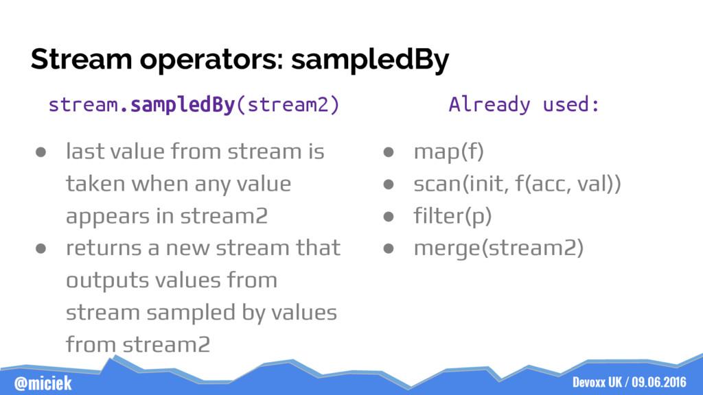 Devoxx UK / 09.06.2016 @miciek Stream operators...