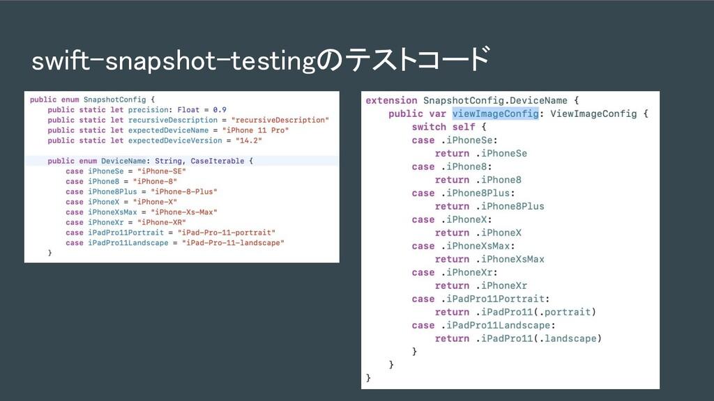 swift-snapshot-testingのテストコード
